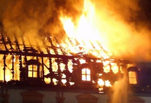 A fire broke out at the Anna-Amalia library in Weimar,